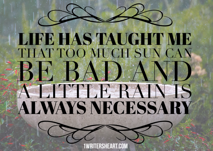Life Lesson: Rain